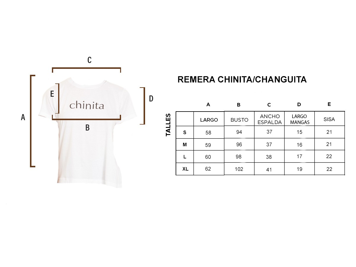REMERA CHANGUITA/CHINITA