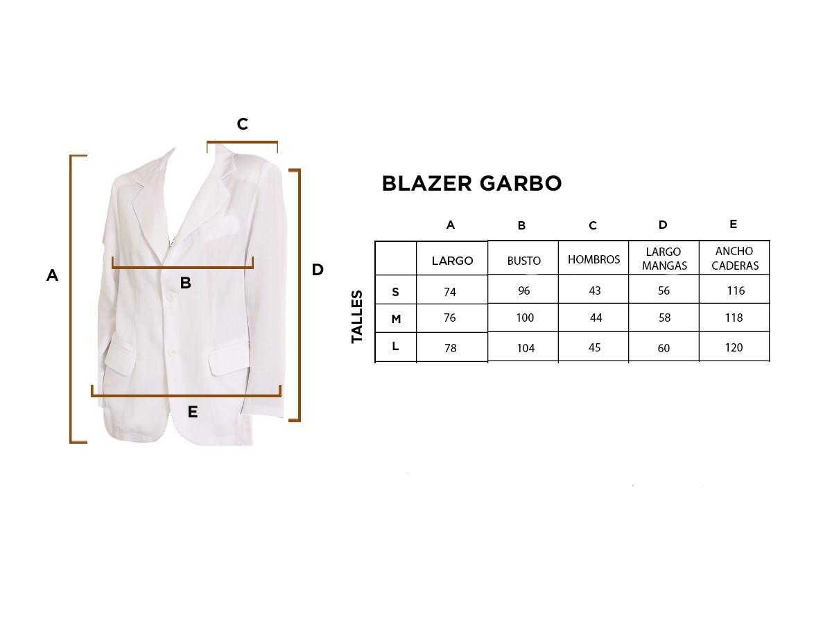 Blazer Garbo blanco