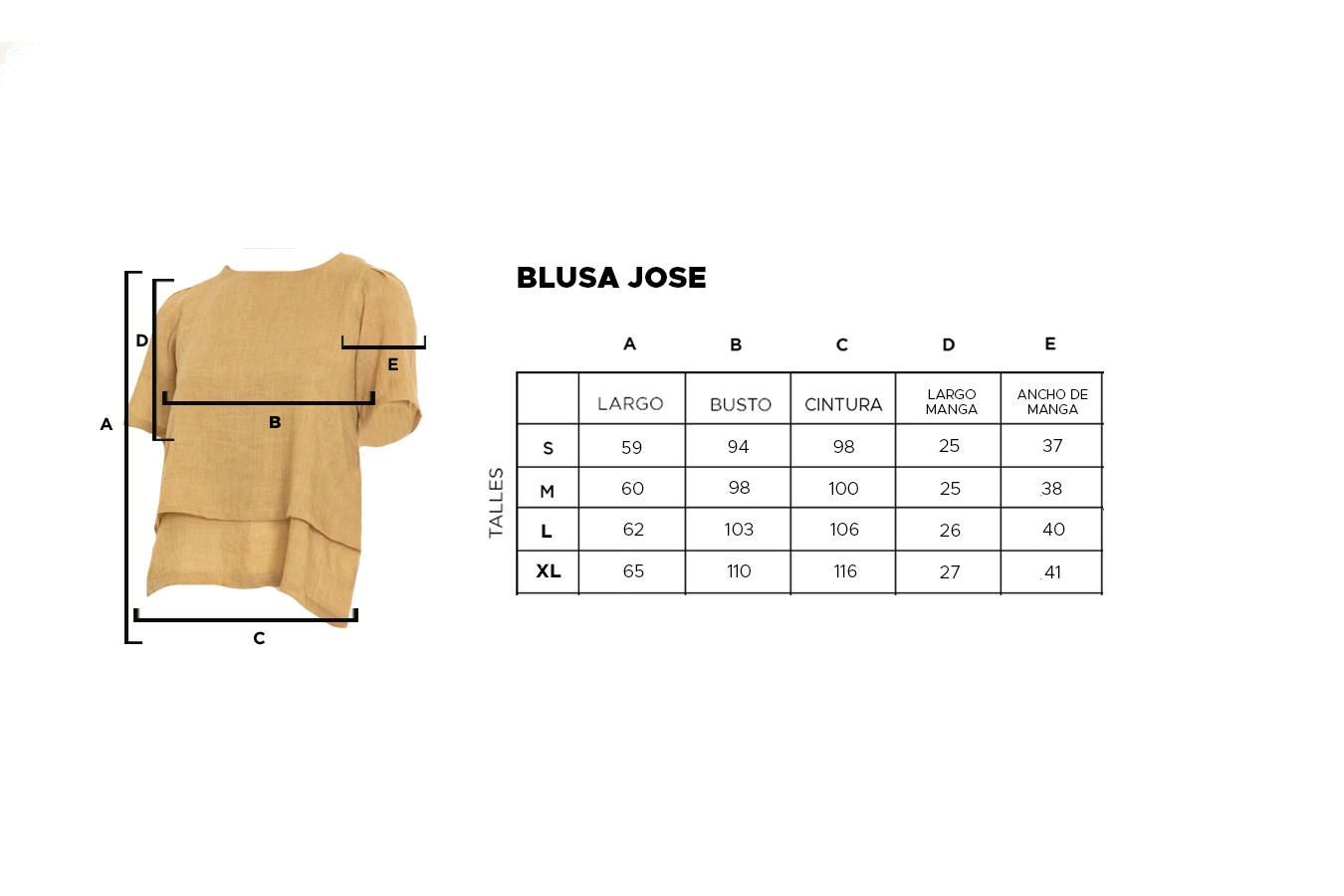 BLUSA JOSE